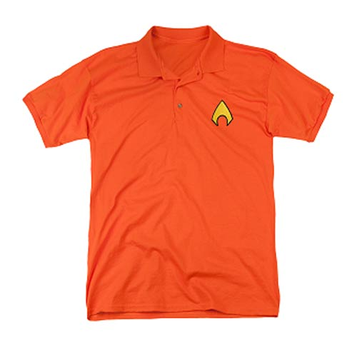 Aquaman_Logo_Embroidered_Patch_Polo_TShirt