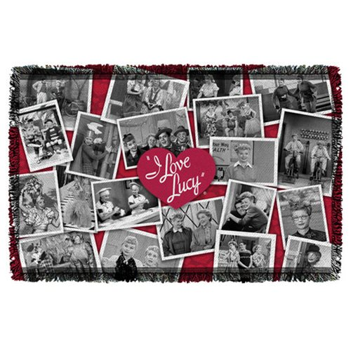 I Love Lucy Time After Time Woven Tapestry Throw Blanket