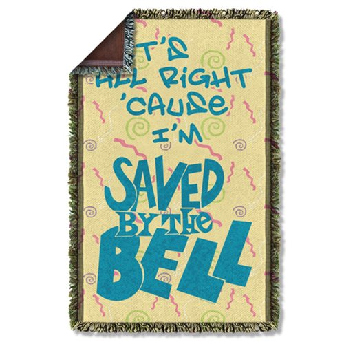 Saved By The Bell All Right Woven Tapestry Throw Blanket