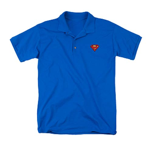 Superman Symbol Embroidered Patch Polo T-Shirt