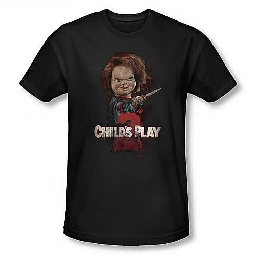 Child's Play 2 Here's Chucky Black T-Shirt