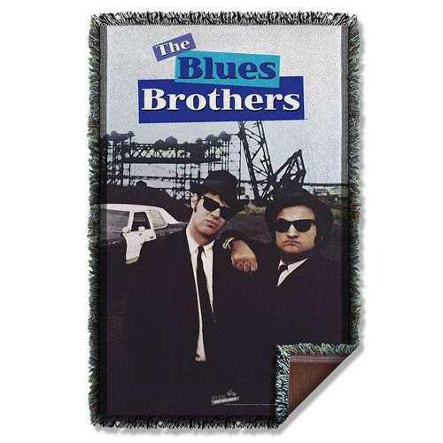 The Blues Brothers Poster Woven Tapestry Blanket