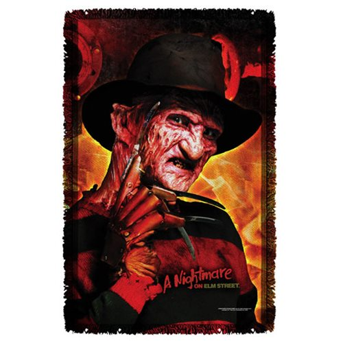 Nightmare On Elm Street Freddys Boiler Room Throw Blanket