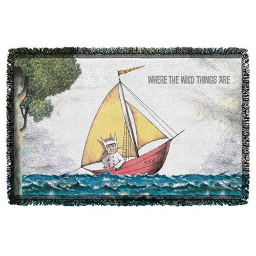 Where The Wild Things Are Maxs Boat Woven Throw Blanket