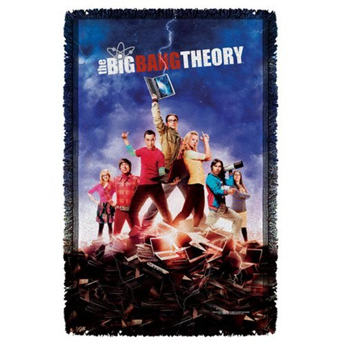 Big Bang Theory Poster Woven Tapestry Throw Blanket