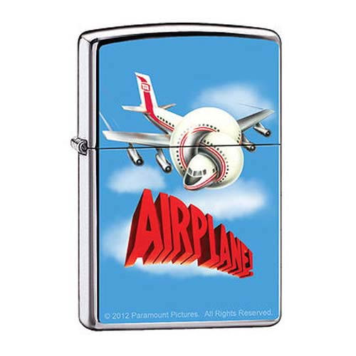 Airplane! Logo High Polished Chrome Zippo Lighter