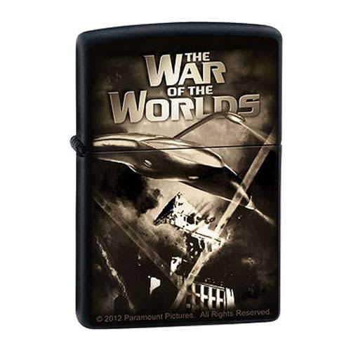 The War of the Worlds Death Rays Black Matte Zippo Lighter