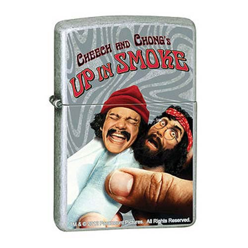 Cheech and Chong Up in Smoke Street Chrome Zippo Lighter