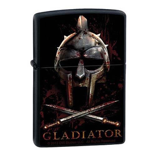 Gladiator Helmet Black Matte Zippo Lighter