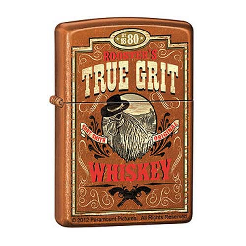 True Grit Whiskey Label Toffee Zippo Lighter