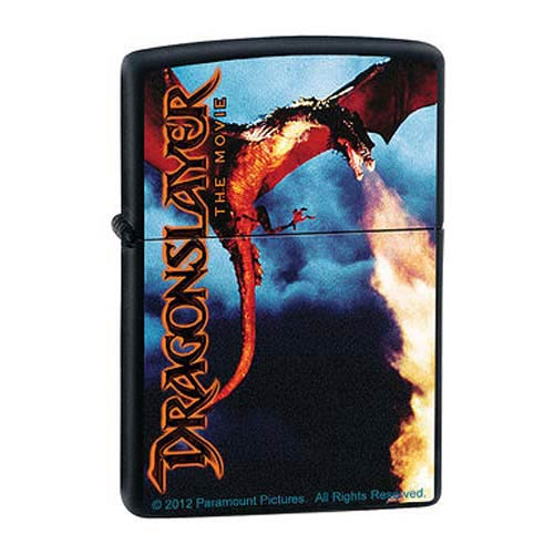 Dragonslayer Death From Above Black Matte Zippo Lighter