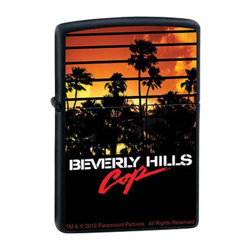 Beverly Hills Cop Sunset Black Matte Zippo Lighter