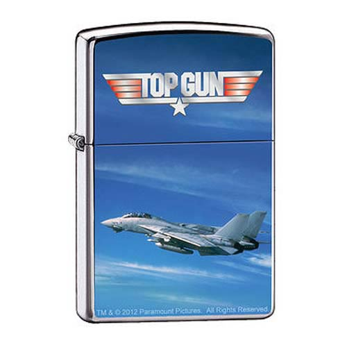 Top Gun F14A Tomcat High Polished Chrome Zippo Lighter