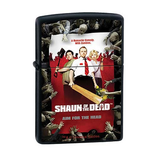 Shaun of the Dead Movie Poster Black Matte Zippo Lighter