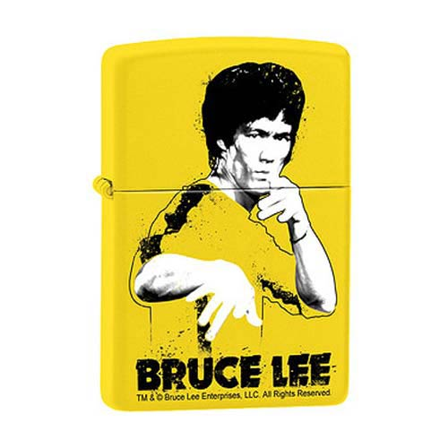 Bruce Lee Yellow Suit Splatter Lemon Zippo Lighter