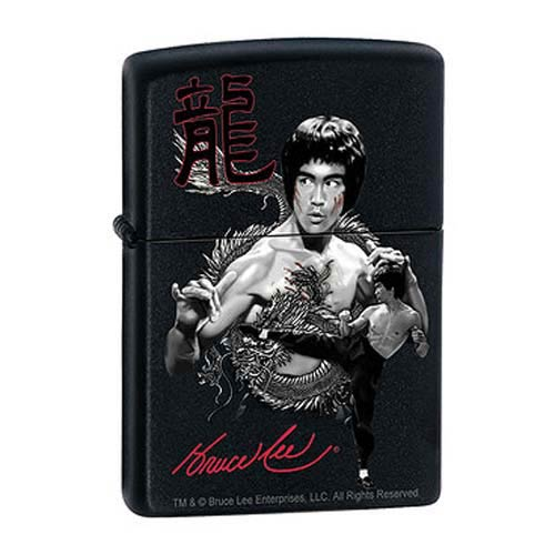 Bruce Lee The Dragon Black Matte Zippo Lighter