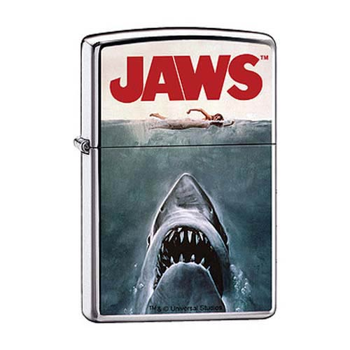 Jaws Movie Poster High Polished Chrome Zippo Lighter