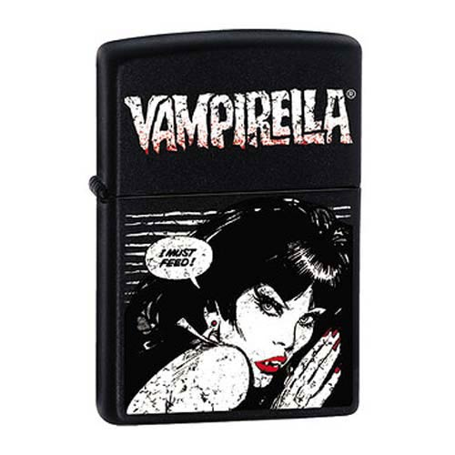 Vampirella I Must Feed Black Matte Zippo Lighter