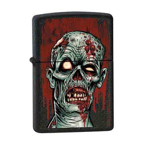 Zombie Black Crackle Zippo Lighter