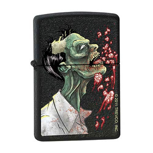 Zombie Brains Black Crackle Zippo Lighter