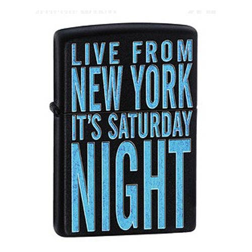 Saturday Night Live It's Saturday Night Black Zippo Lighter