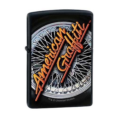 American Graffiti Hot Rod Black Matte Zippo Lighter