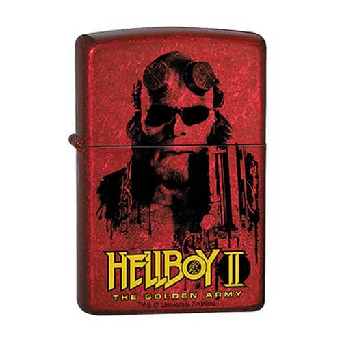 Hellboy II Splatter Gun Candy Apple Red Zippo Lighter