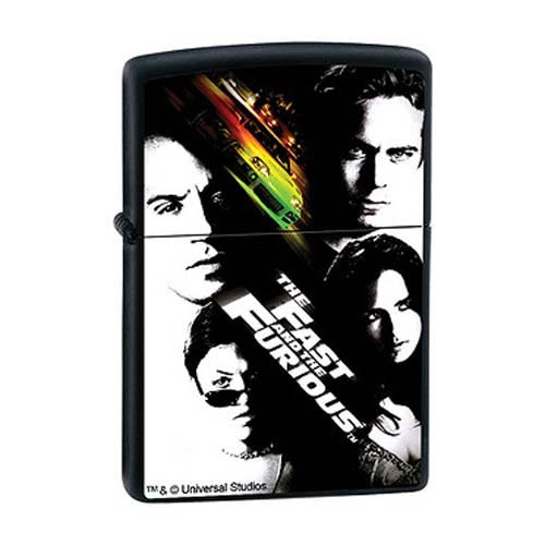 The Fast and the Furious Poster Black Matte Zippo Lighter