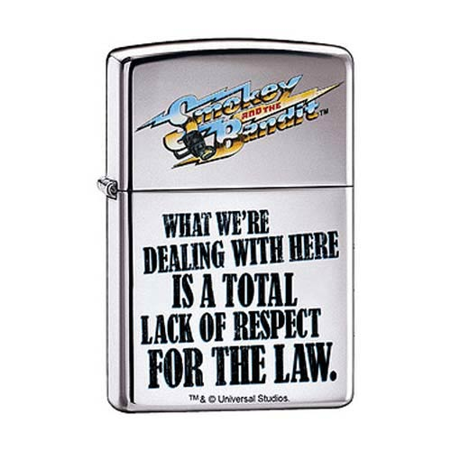 Smokey and the Bandit High Polished Chrome Zippo Lighter