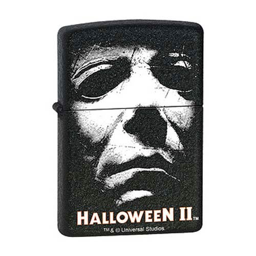 Halloween II Movie Mask Black Crackle Zippo Lighter