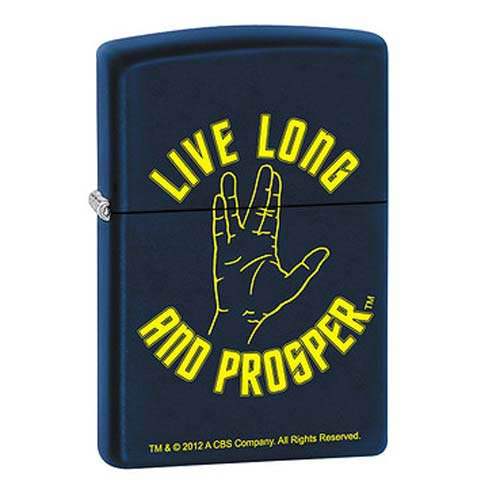Star Trek Live Long and Prosper Navy Matte Zippo Lighter