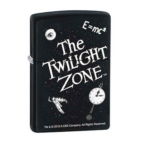 Twilight Zone Black Matte Zippo Lighter