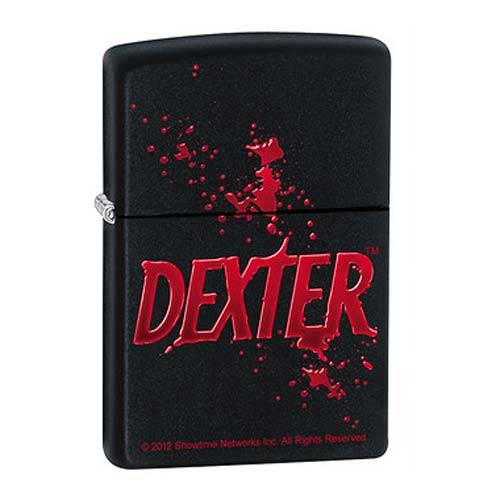 Dexter Logo Black Matte Zippo Lighter