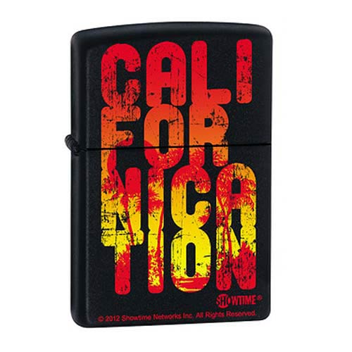 Californication Cali Type Black Matte Zippo Lighter
