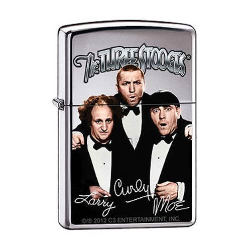 Three Stooges Tuxedos High Polished Chrome Zippo Lighter