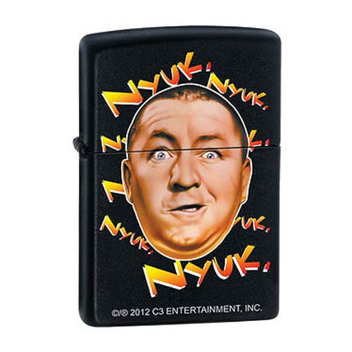 Three Stooges Nyuk Nyuk Black Matte Zippo Lighter