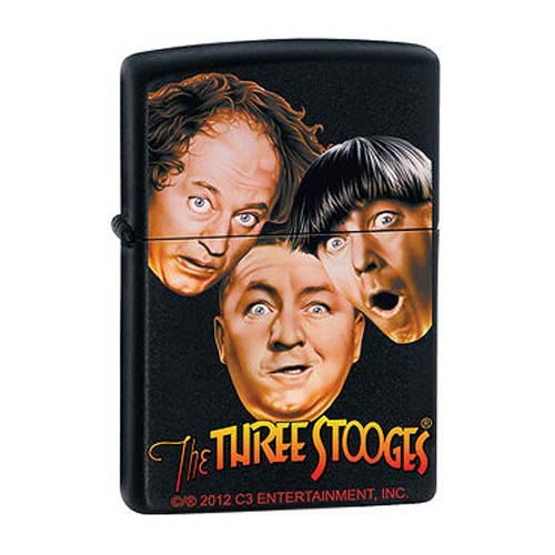Three Stooges Black Matte Zippo Lighter