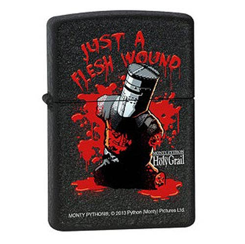 Monty Python Flesh Wound Black Crackle Zippo Lighter
