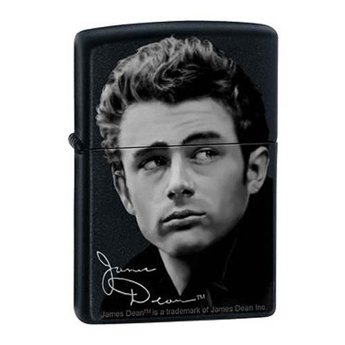 James Dean Not Forgotten Black Matte Zippo Lighter