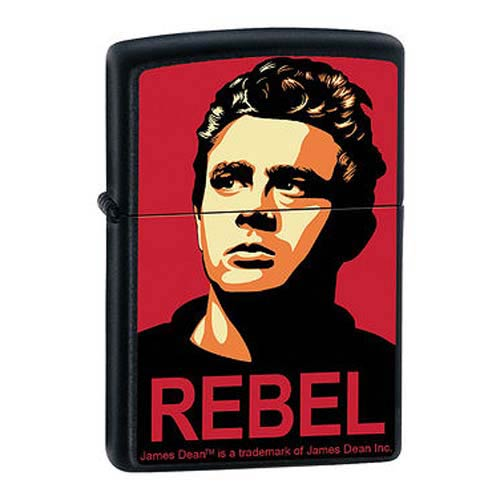 James Dean Rebel Campaign Black Matte Zippo Lighter