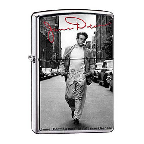James Dean Street High Polish Chrome Zippo Lighter