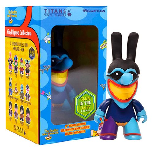 The Beatles Blue Meanie Glow-in-the-Dark 3-Inch Titan Vinyl Figure - 2019 Convention Exclusive