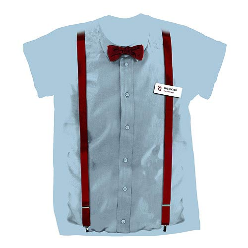Doctor Who 11th Doctor Braces and Bowtie Costume T-Shirt
