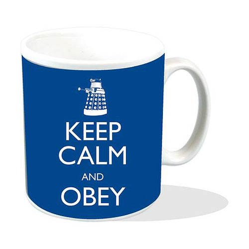 Doctor Who Keep Calm and Obey Blue Mug