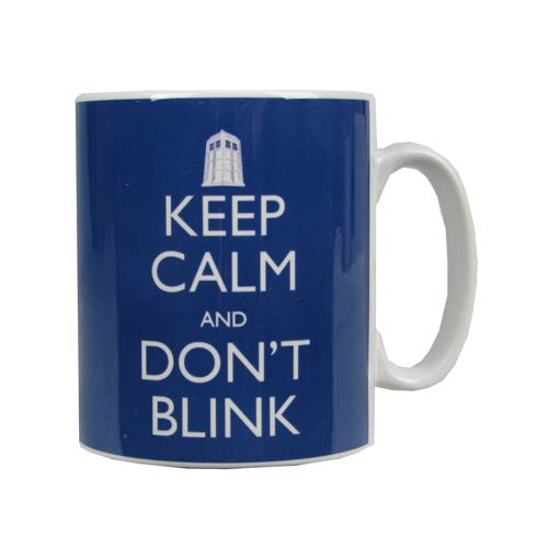 Doctor Who Keep Calm and Don't Blink Blue Mug
