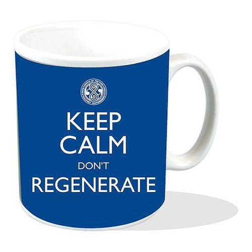 Doctor Who Keep Calm Don't Regenerate Blue Mug