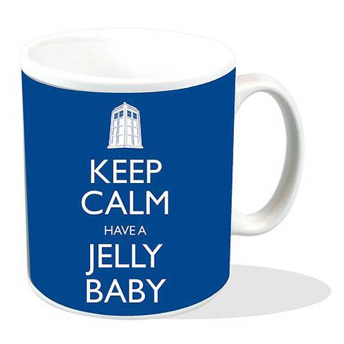 Doctor Who Keep Calm Have A Jelly Baby Blue Mug