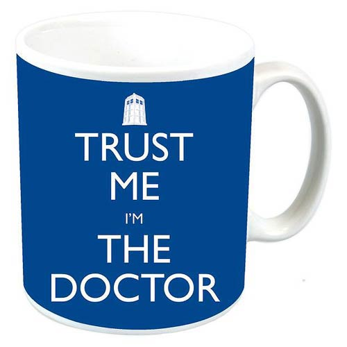 Doctor Who Trust Me I'm The Doctor Blue Mug