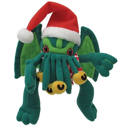 Mini Santa Cthulhu Plush