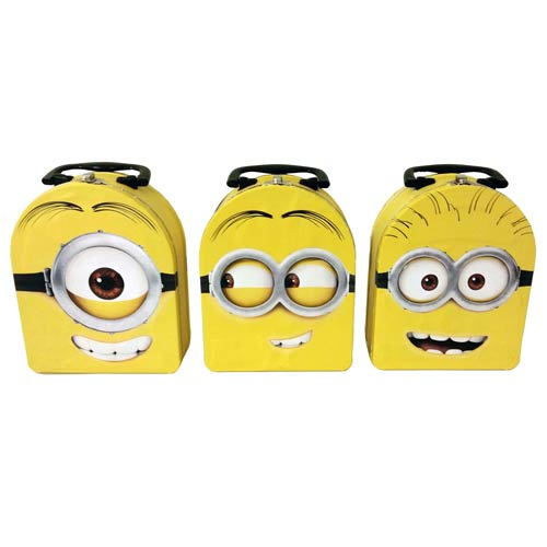 Despicable Me Minion Head Tin Carry All Lunch Box Set
